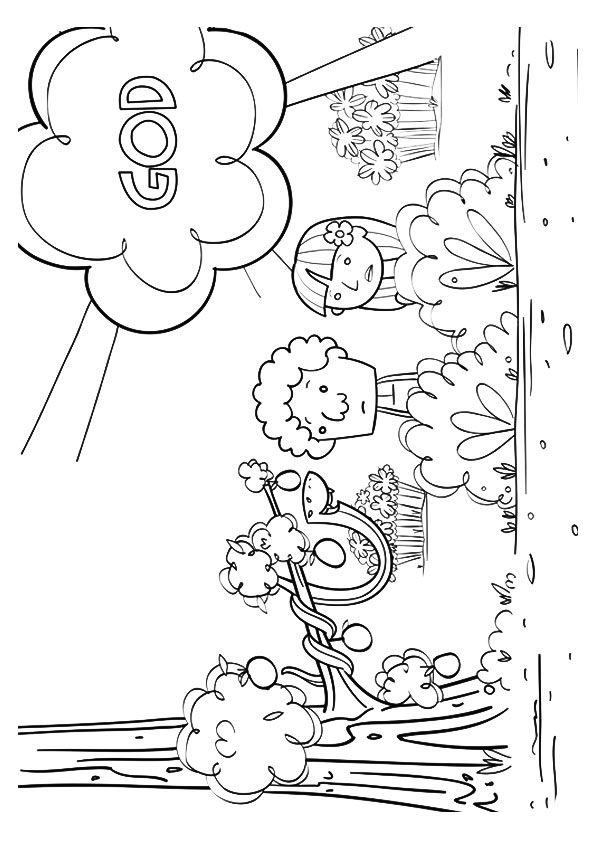 coloring adam and eve story for kids print coloring image school pinterest sunday school adam and kids coloring story for eve