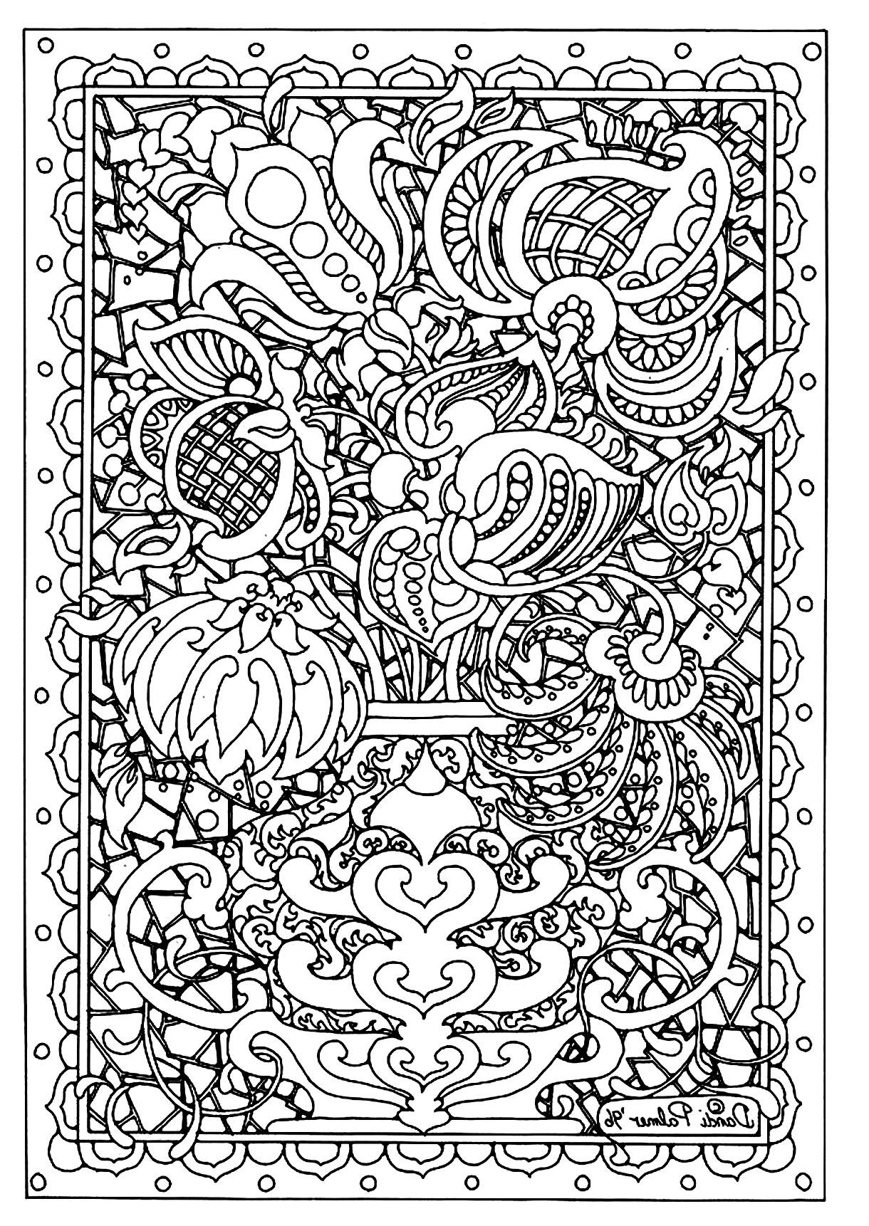 coloring adults pages flower difficult flowers adult coloring pages coloring pages adults