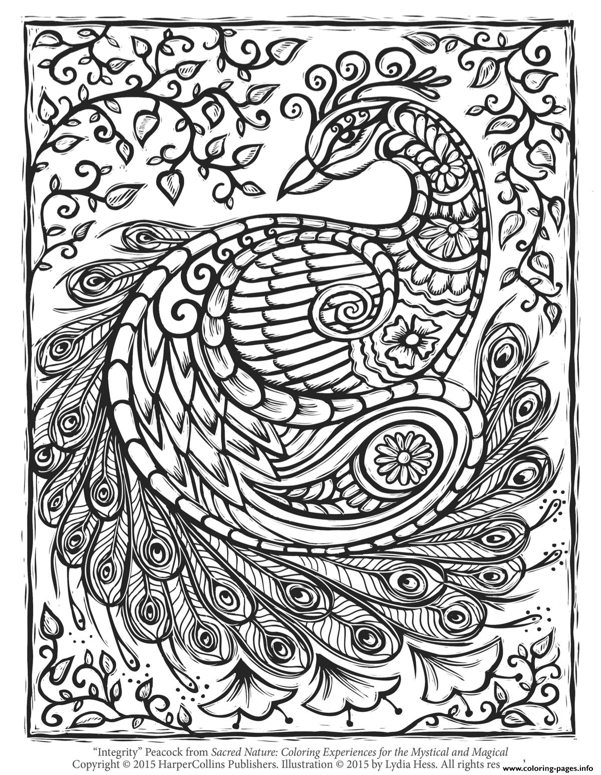 coloring adults pages peacock adult hard advanced coloring pages printable coloring adults pages