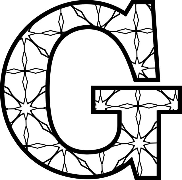 coloring alphabet g coloring alphabet g alphabet coloring g