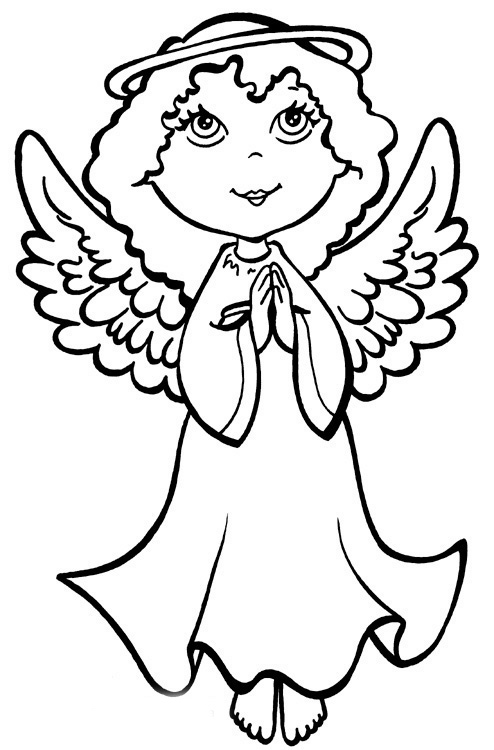 coloring angel 9 best christmas coloring pages images on pinterest angel coloring