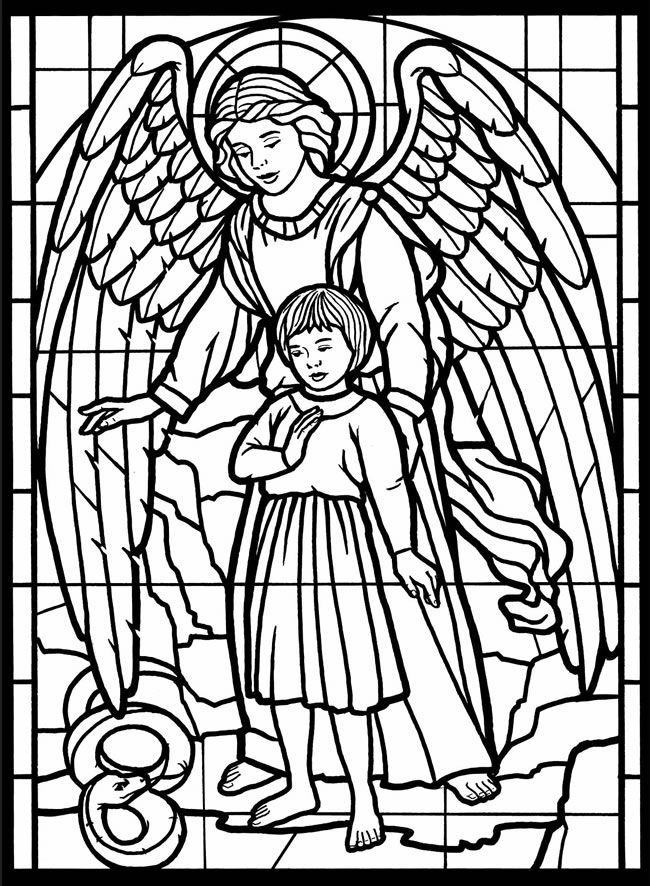 coloring angel free coloring page angel stained glass coloring book coloring angel