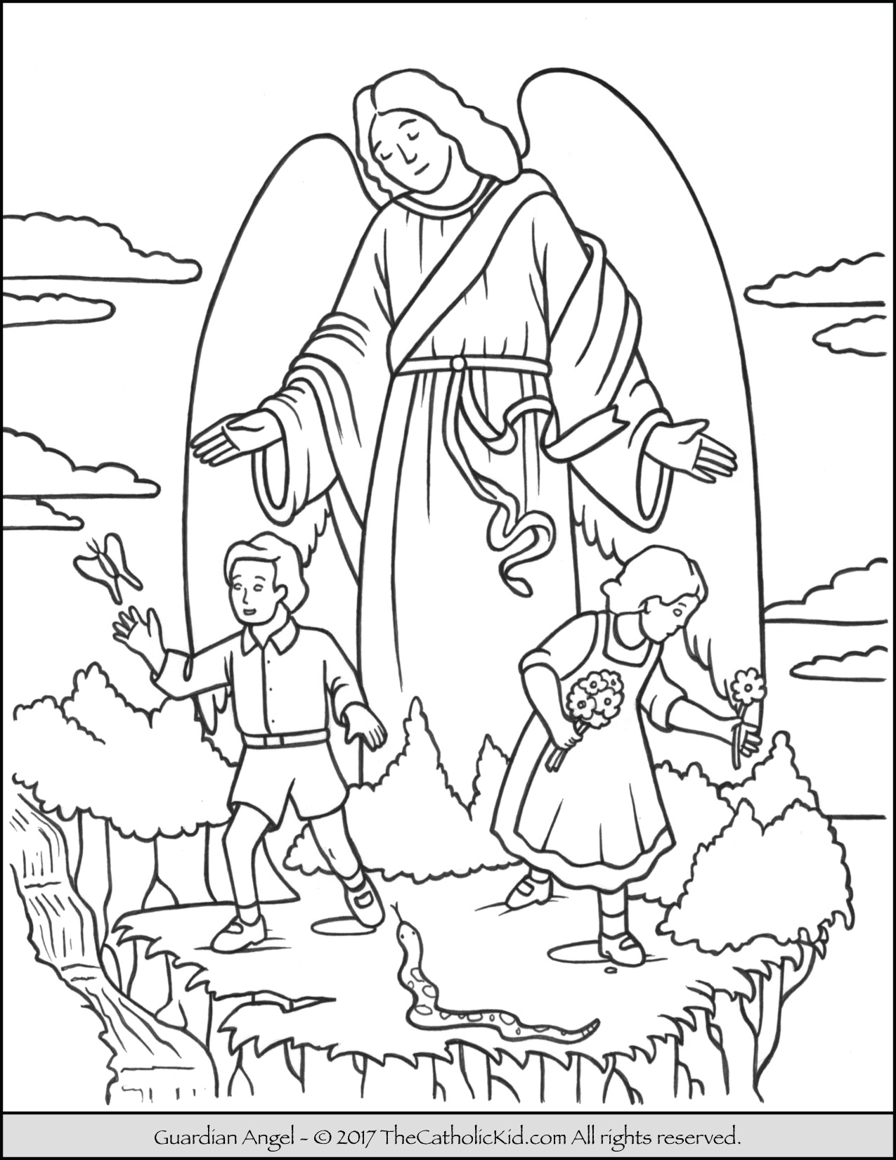 coloring angel free printable angel coloring pages for kids angel coloring