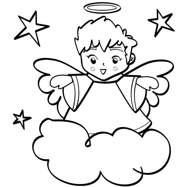 coloring angel free printable angel coloring pages for kids coloring angel
