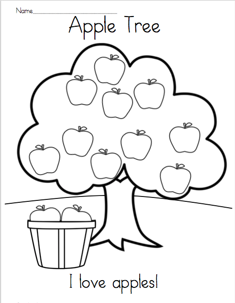 coloring apple worksheets for preschool apple themed math and literacy printables for young coloring apple for worksheets preschool