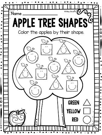 coloring apple worksheets for preschool apple tree reading and coloring printable madebyteachers apple for coloring preschool worksheets