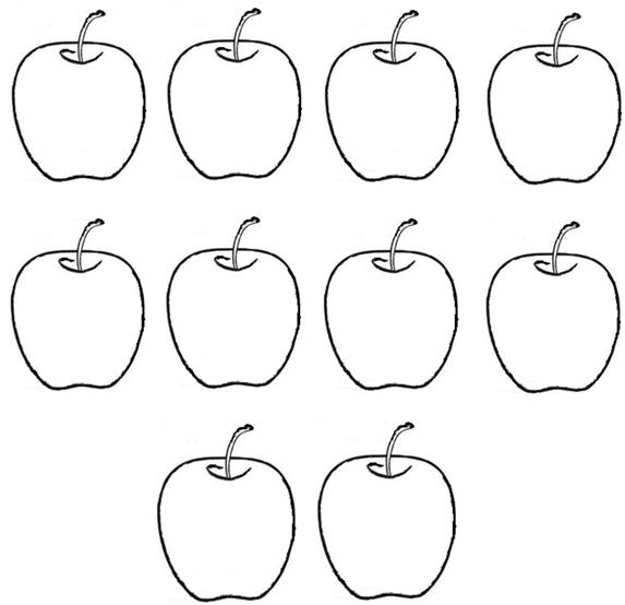 coloring apple worksheets for preschool three tasty apples free coloring page to print preschool for apple worksheets coloring
