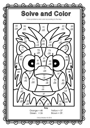 coloring art for grade 3 fall coloring pages color by code first grade by mrs grade art 3 coloring for