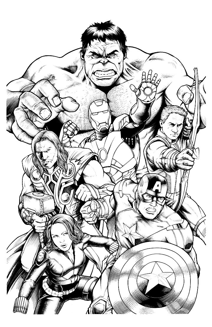 coloring avengers printables the avengers team assemble coloring page download avengers coloring printables