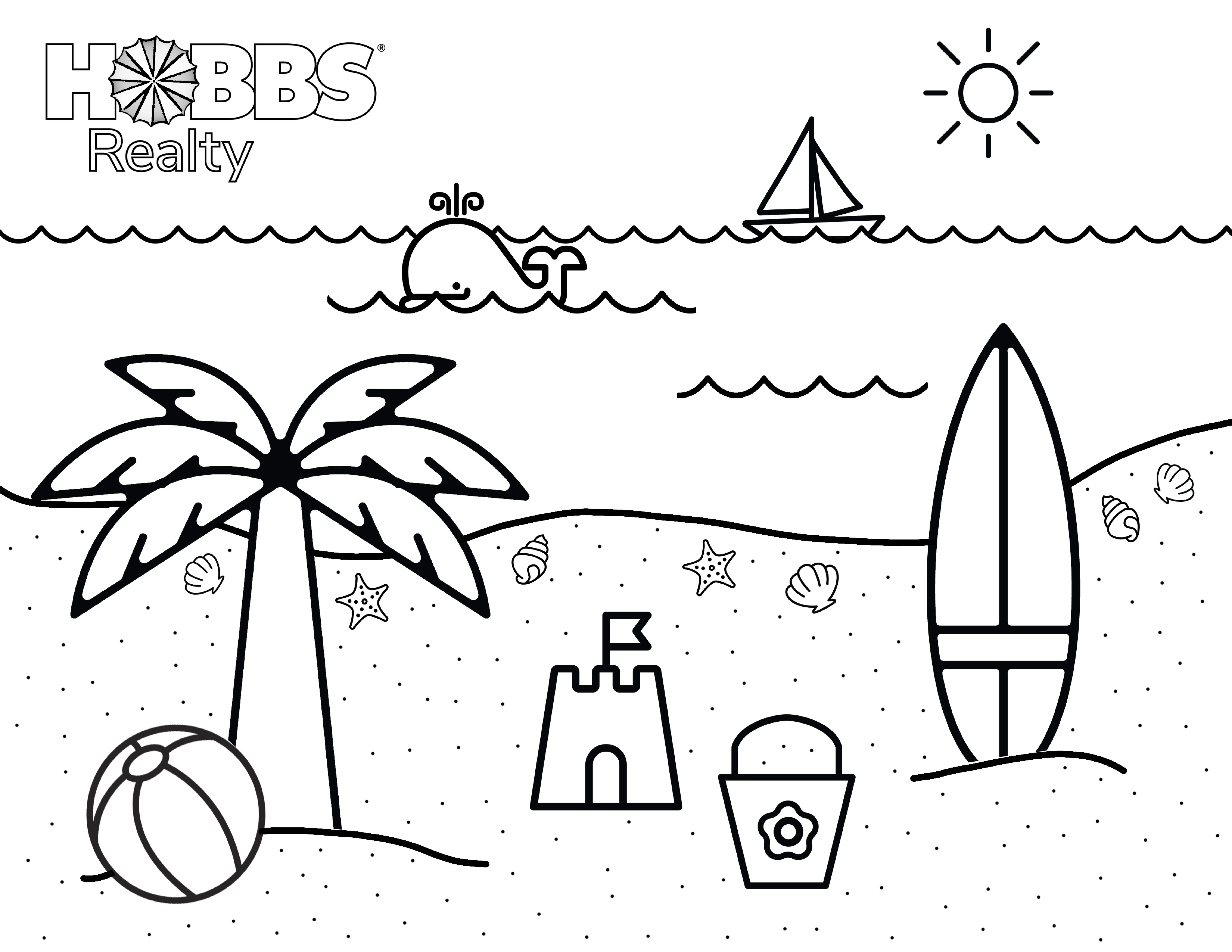 coloring beach pictures beach coloring pages for kids holden beach blog beach pictures coloring