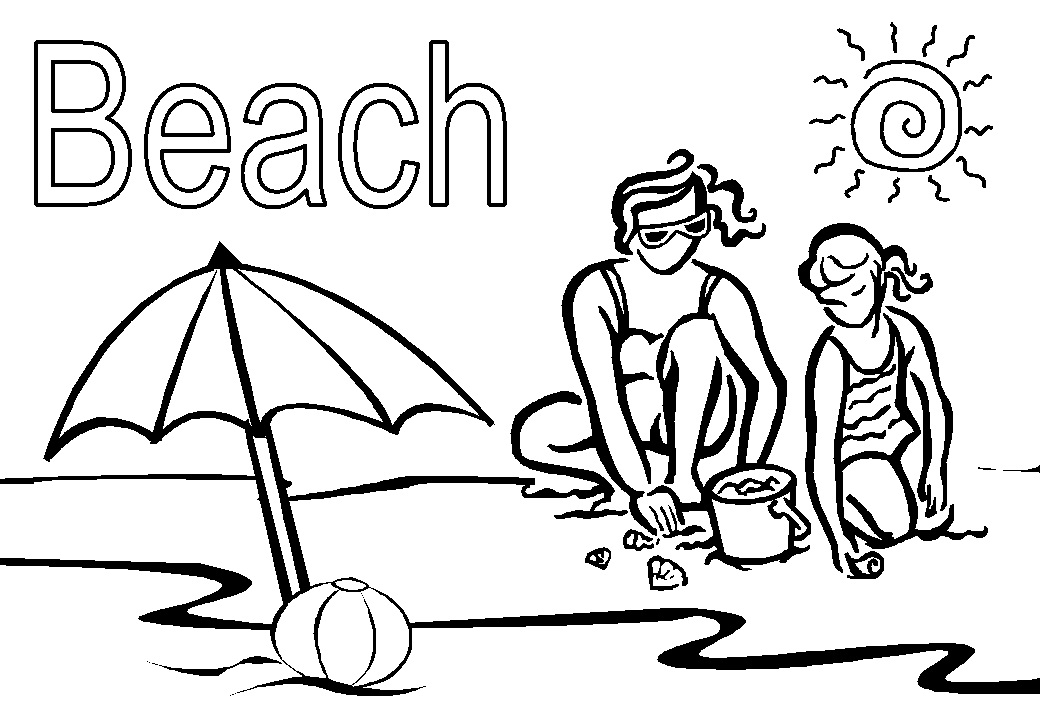 coloring beach pictures beach scene coloring pages getcoloringpagescom beach pictures coloring