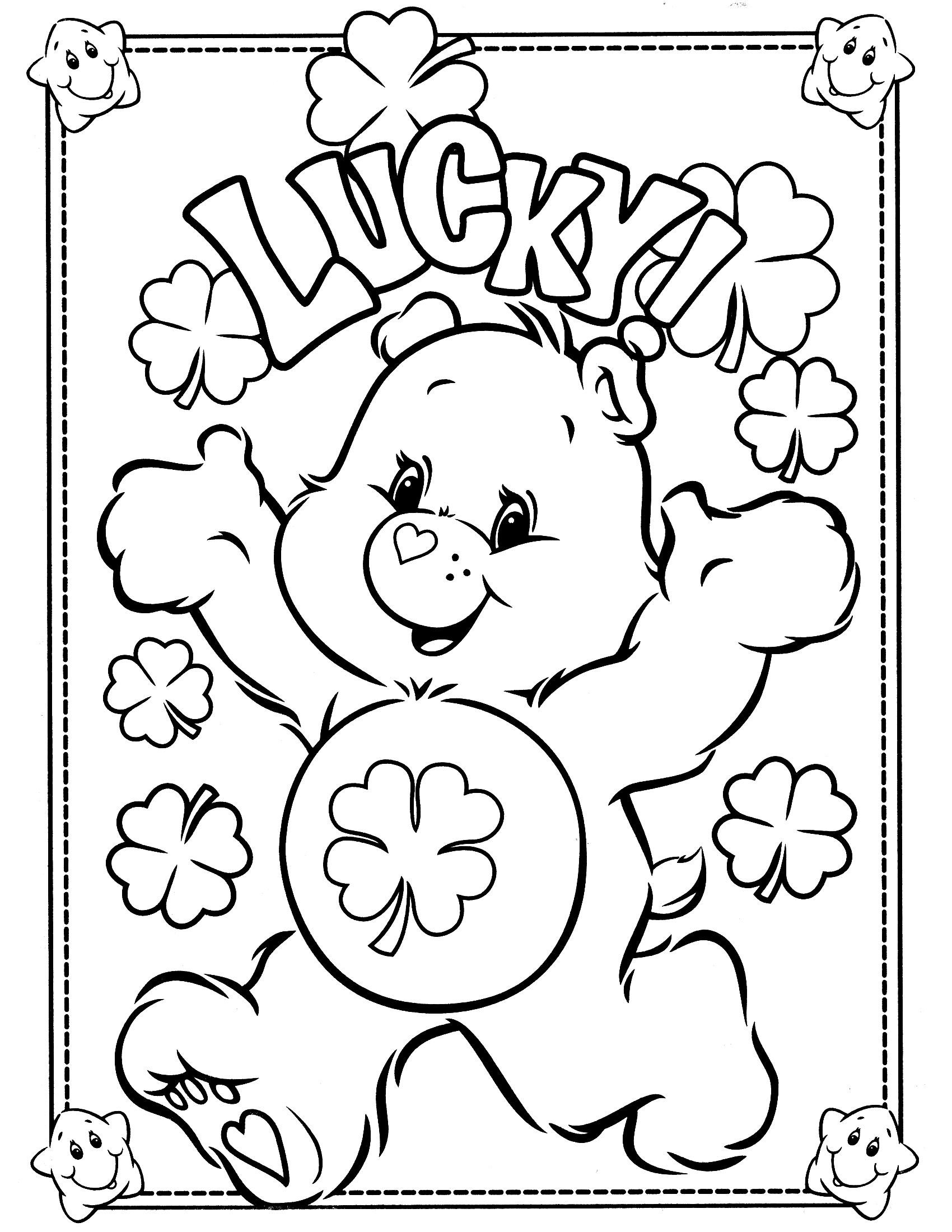 coloring bears free printable care bear coloring pages for kids bears coloring