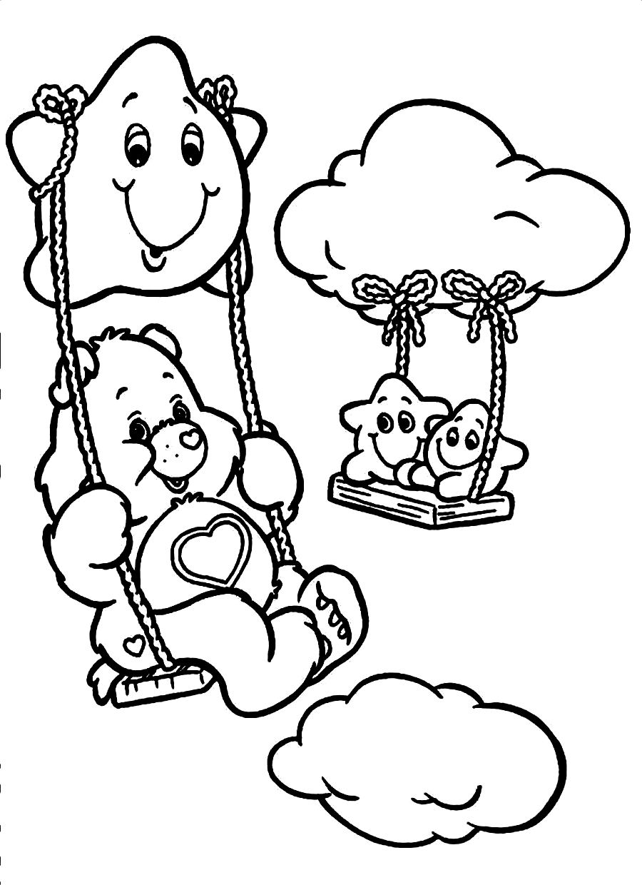 coloring bears free printable care bear coloring pages for kids coloring bears