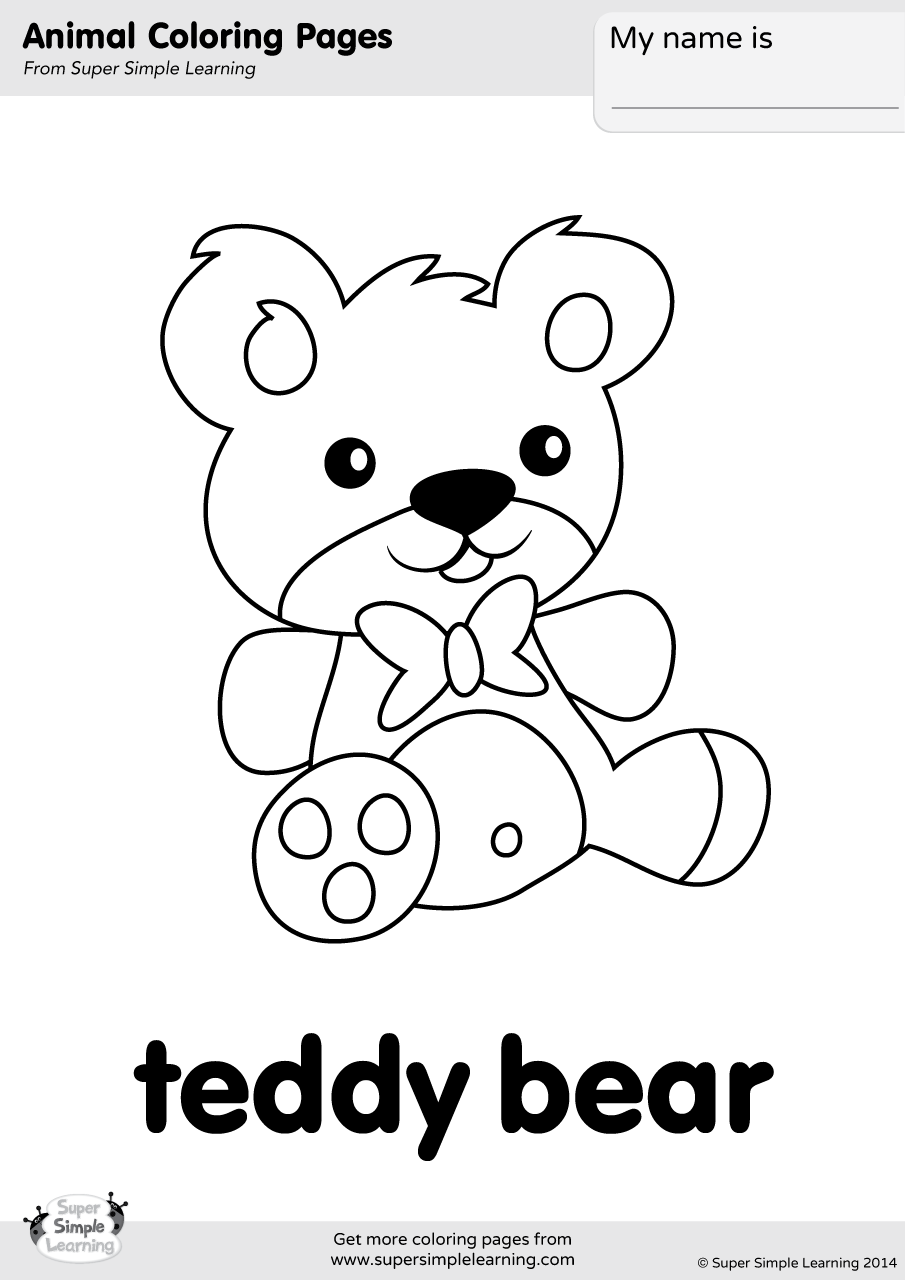 coloring bears teddy bear coloring page super simple bears coloring