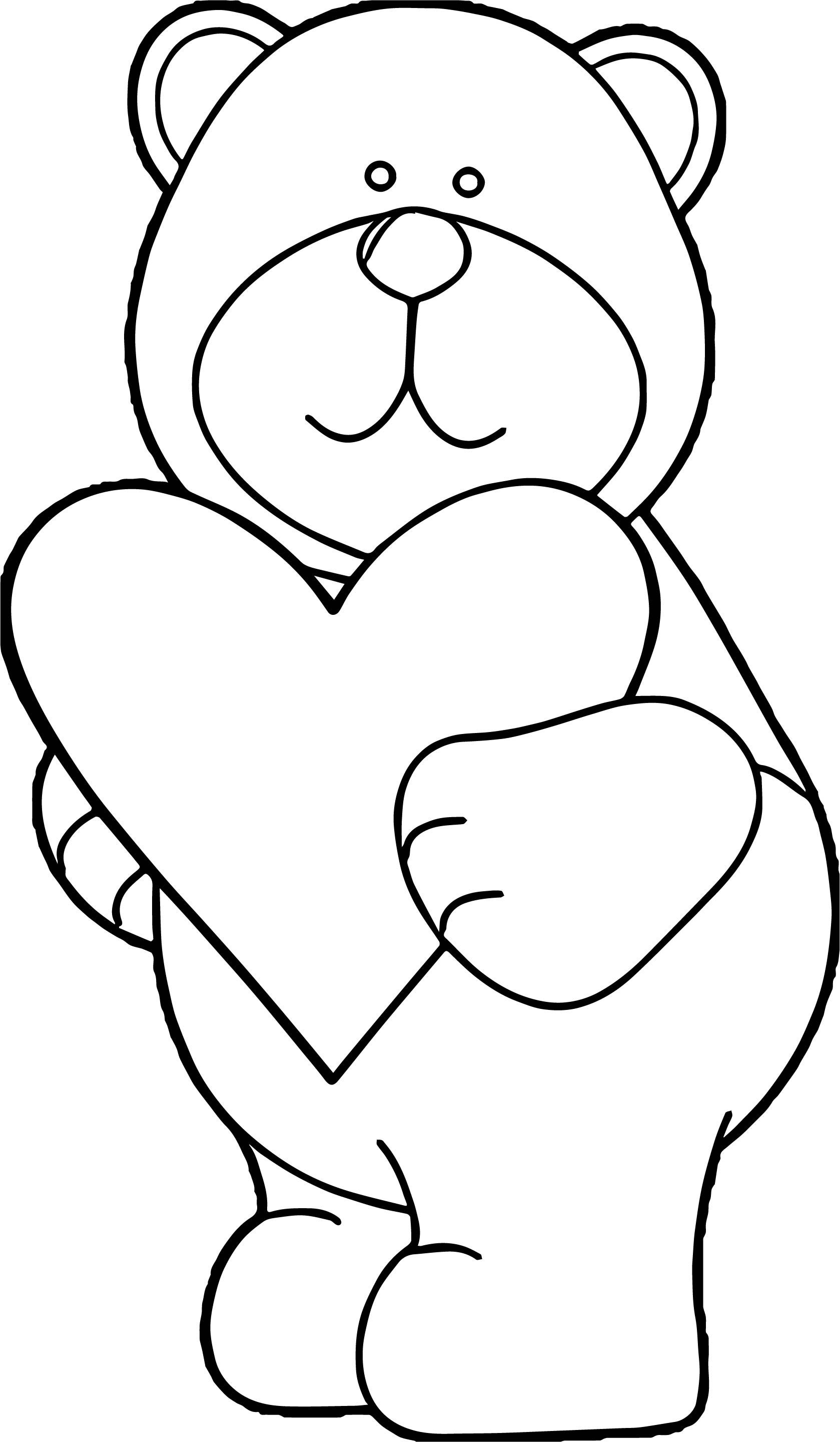 coloring bears teddy bear with heart coloring pages at getcoloringscom coloring bears