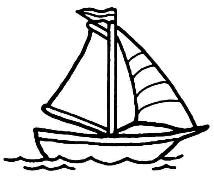 coloring boat for kids boat coloring page for kids free printable picture boat for coloring kids