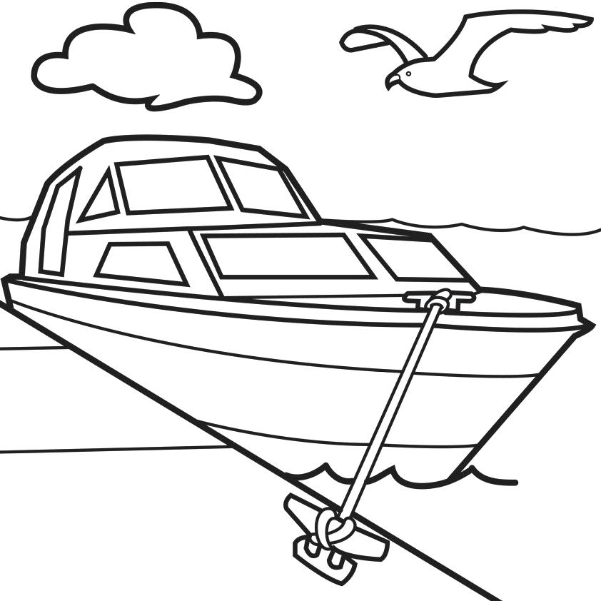 coloring boat for kids small fishing boat coloring page for kids transportation coloring kids for boat