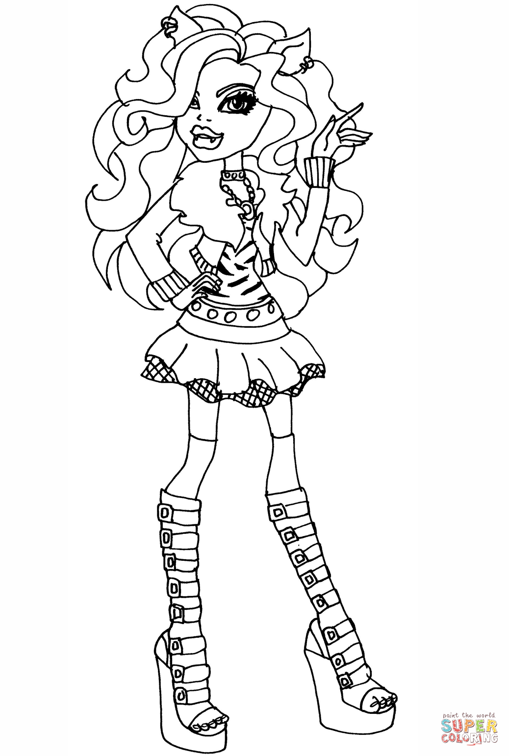 coloring book monster high monster high clawdeen wolf coloring pages coloring home book monster high coloring