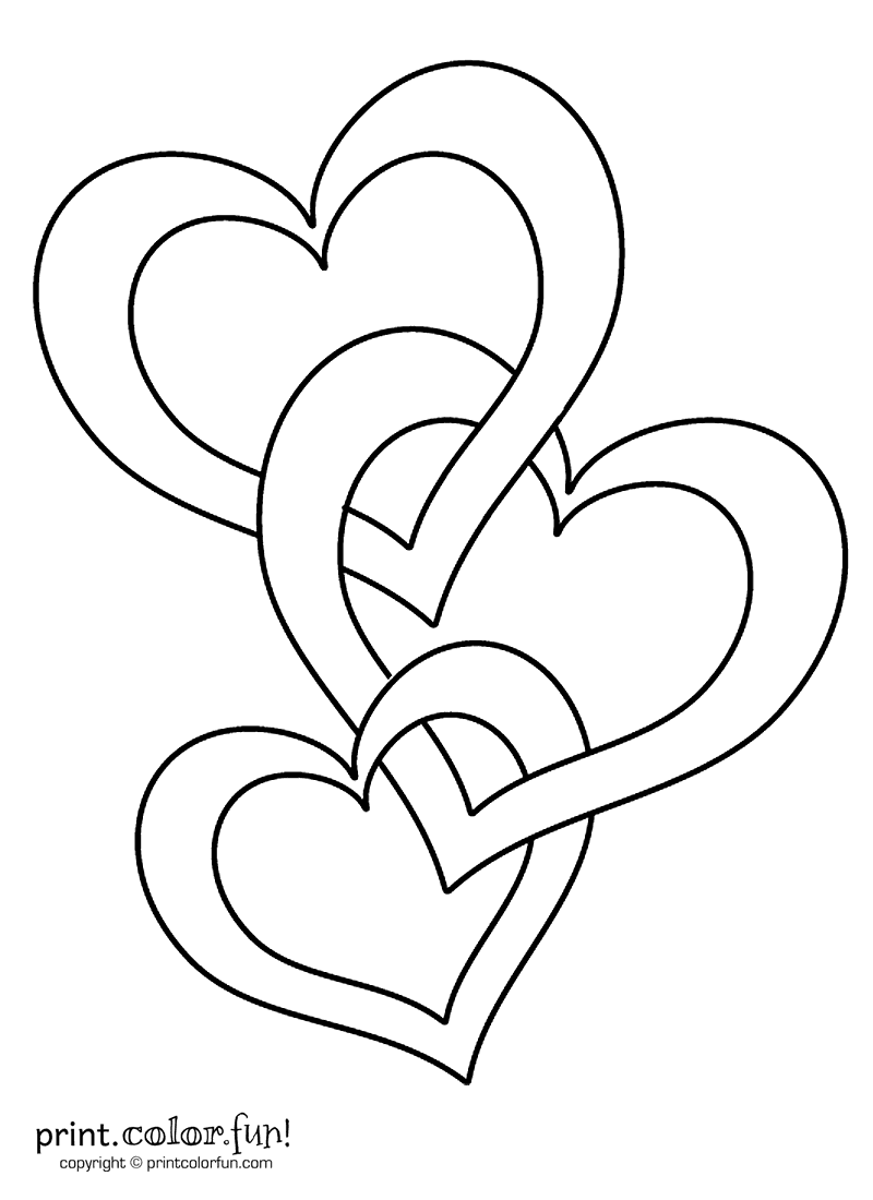 coloring book pictures of hearts connected hearts coloring page print color fun of pictures hearts book coloring