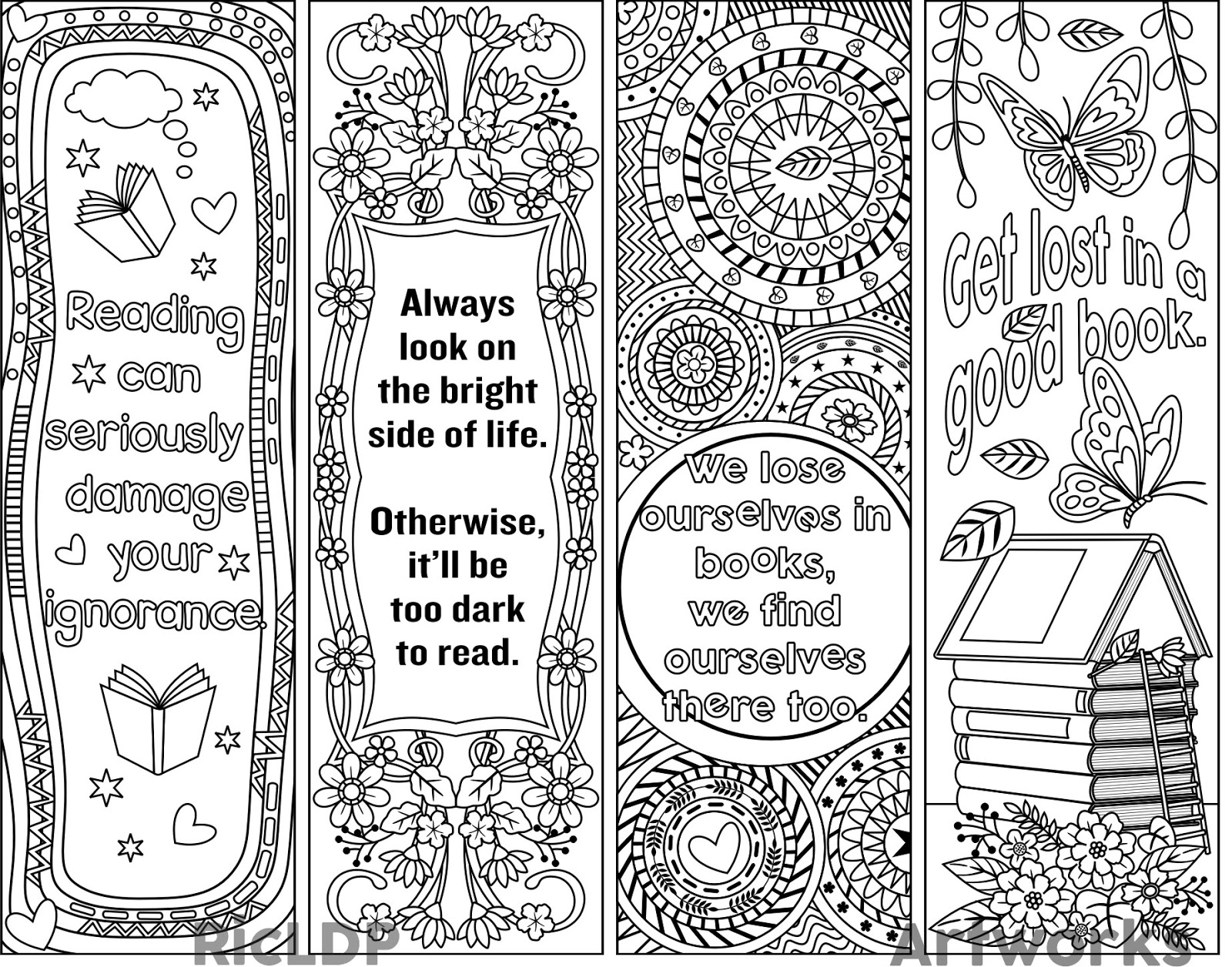 coloring bookmark template 8 coloring bookmarks with feel good quotes printable coloring coloring bookmark template