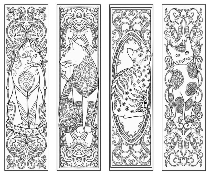 coloring bookmark template free printable coloring bookmark animal google search bookmark coloring template