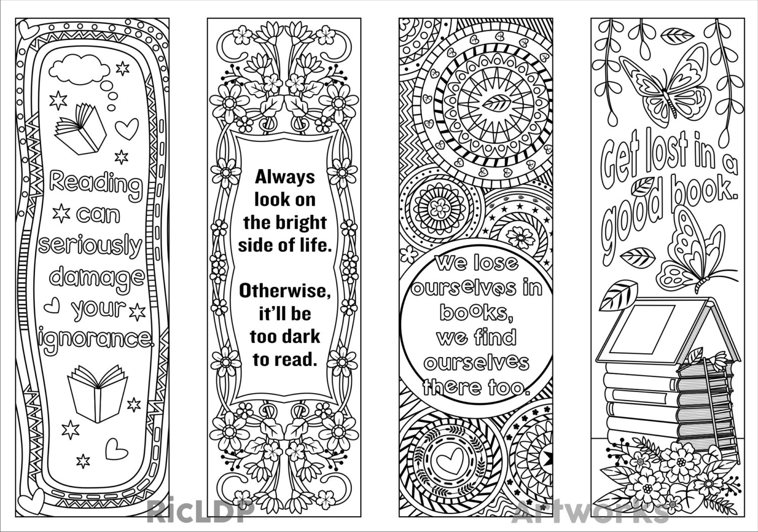 coloring bookmark template printable coloring bookmark templates with four by bookmark coloring template