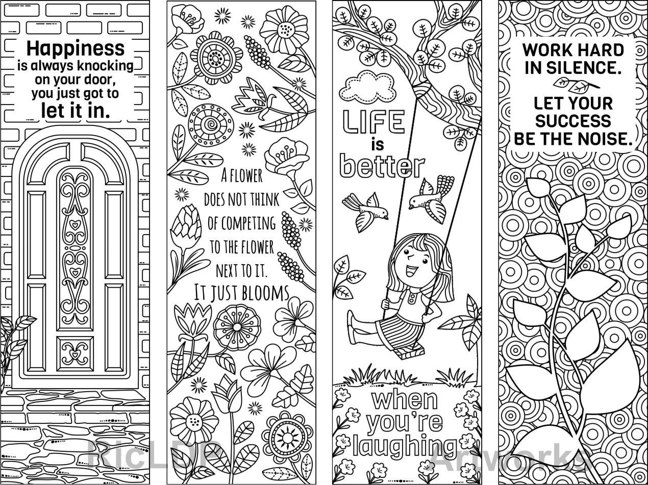 coloring bookmark template printable colouring bookmarks with quotes coloring bookmark bookmark template coloring
