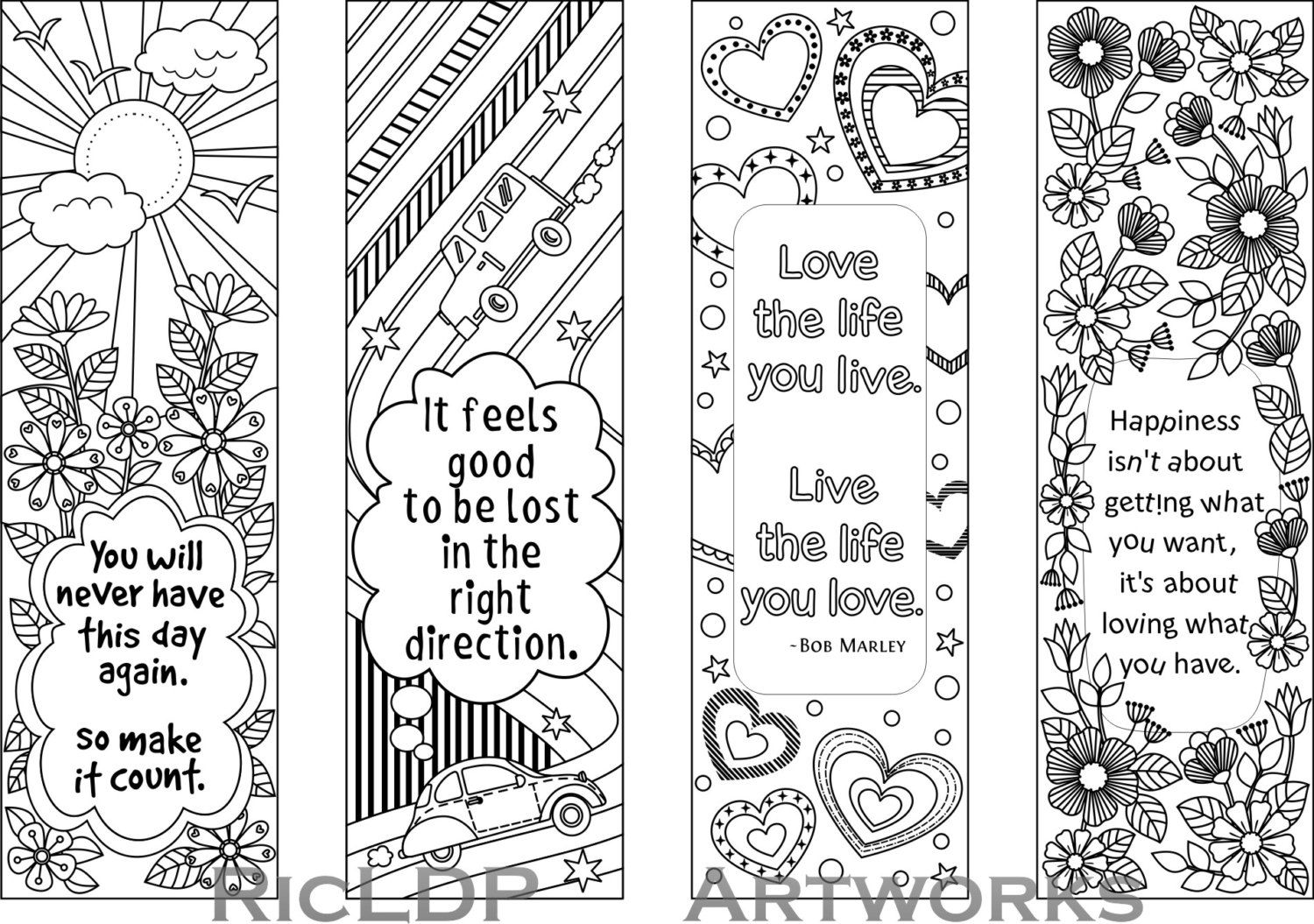 coloring bookmark template printable colouring bookmarks with quotes coloring bookmark coloring template