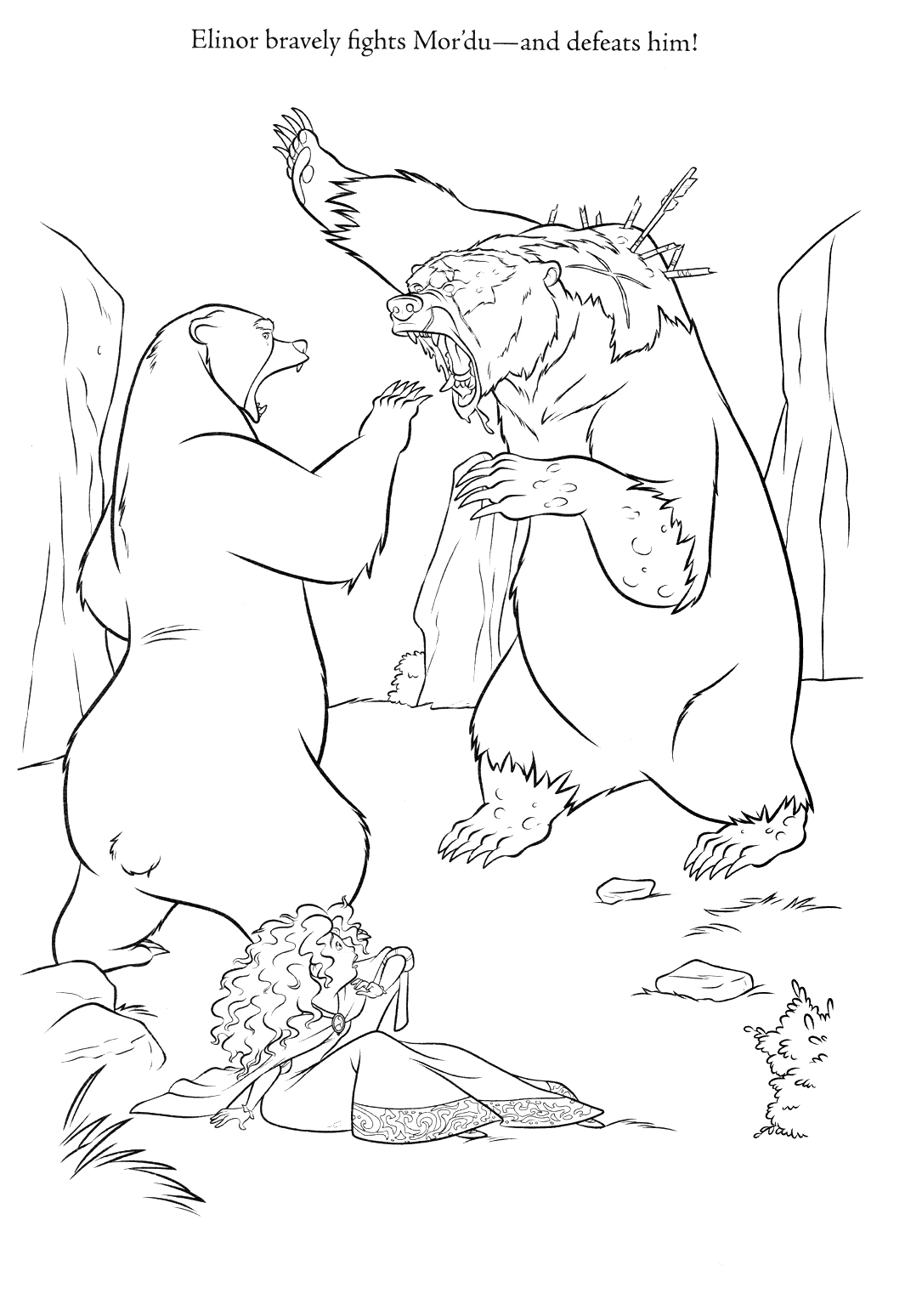 coloring brave 1888 red disney brave coloring pages brave coloring