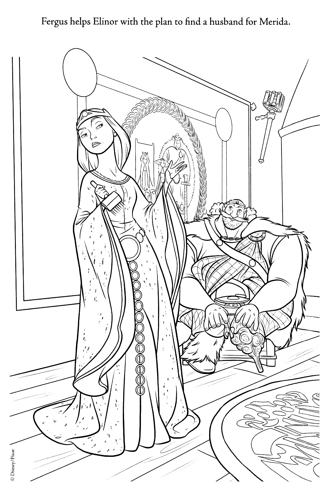 coloring brave brave merida coloring pages brave coloring 1 1