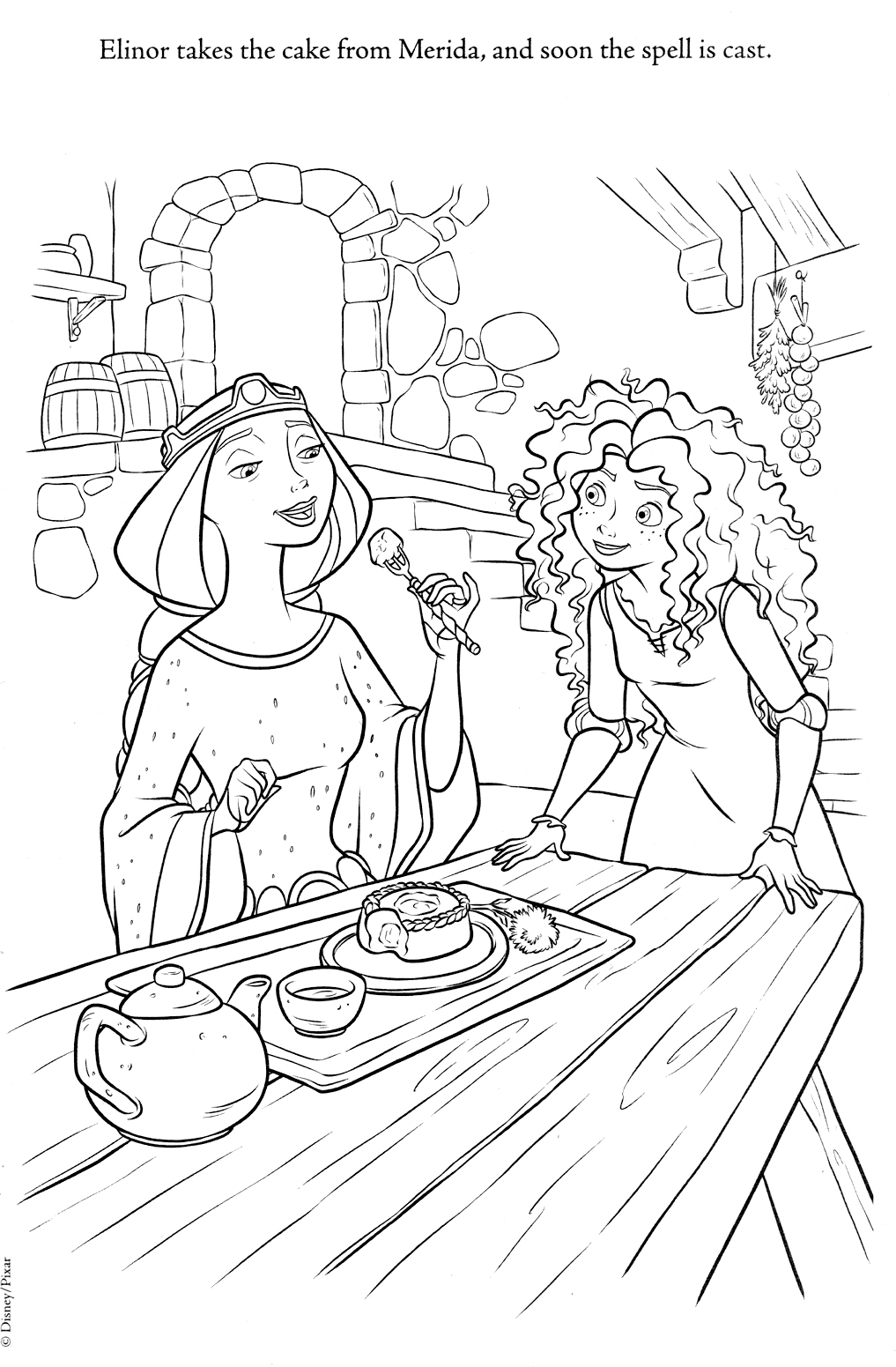 coloring brave brave merida coloring pages brave coloring 1 3