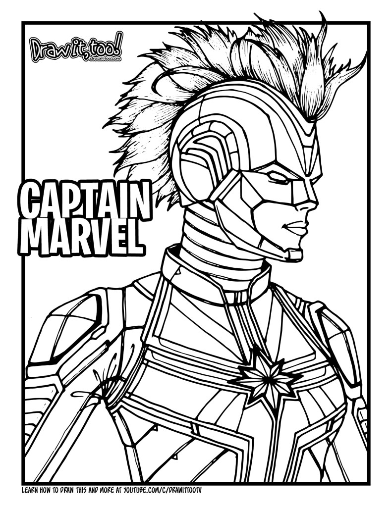 coloring captain marvel captain marvel coloring pages at getdrawings free download marvel coloring captain