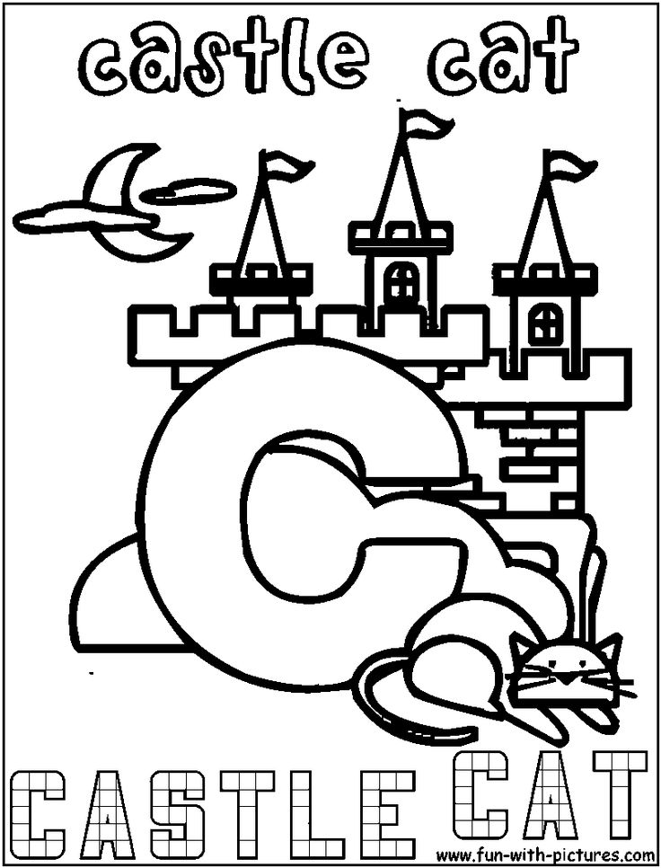 coloring castle letters image result for lettrine à colorier lettering alphabet castle letters coloring