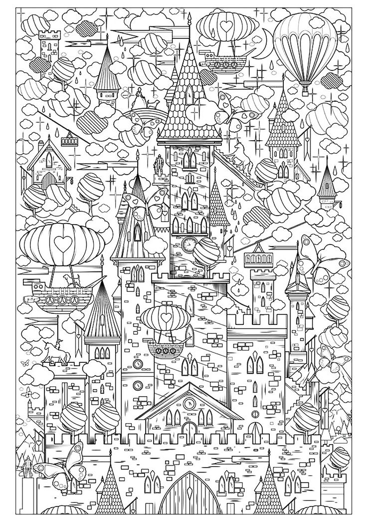coloring castle mandalas happily ever after design by byjamierose on etsy coloring castle mandalas