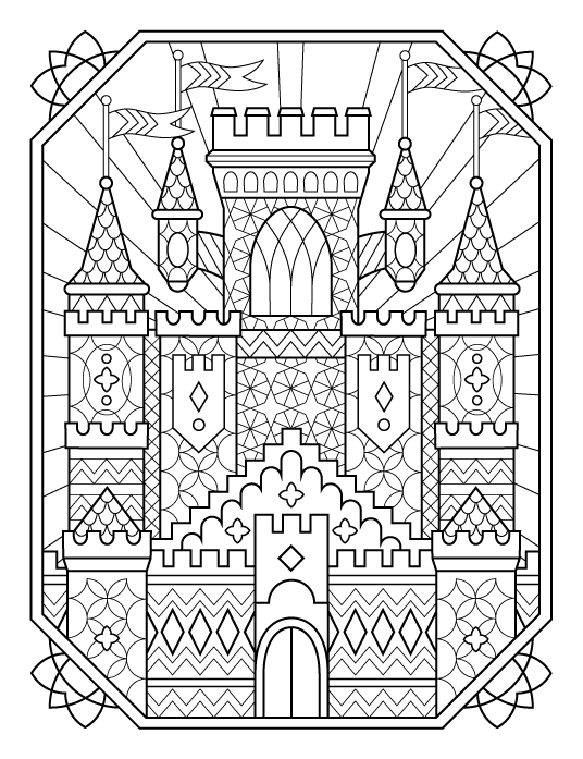 coloring castle mandalas kc stained glass castlepng 8501000 mandalas pinterest castle coloring mandalas