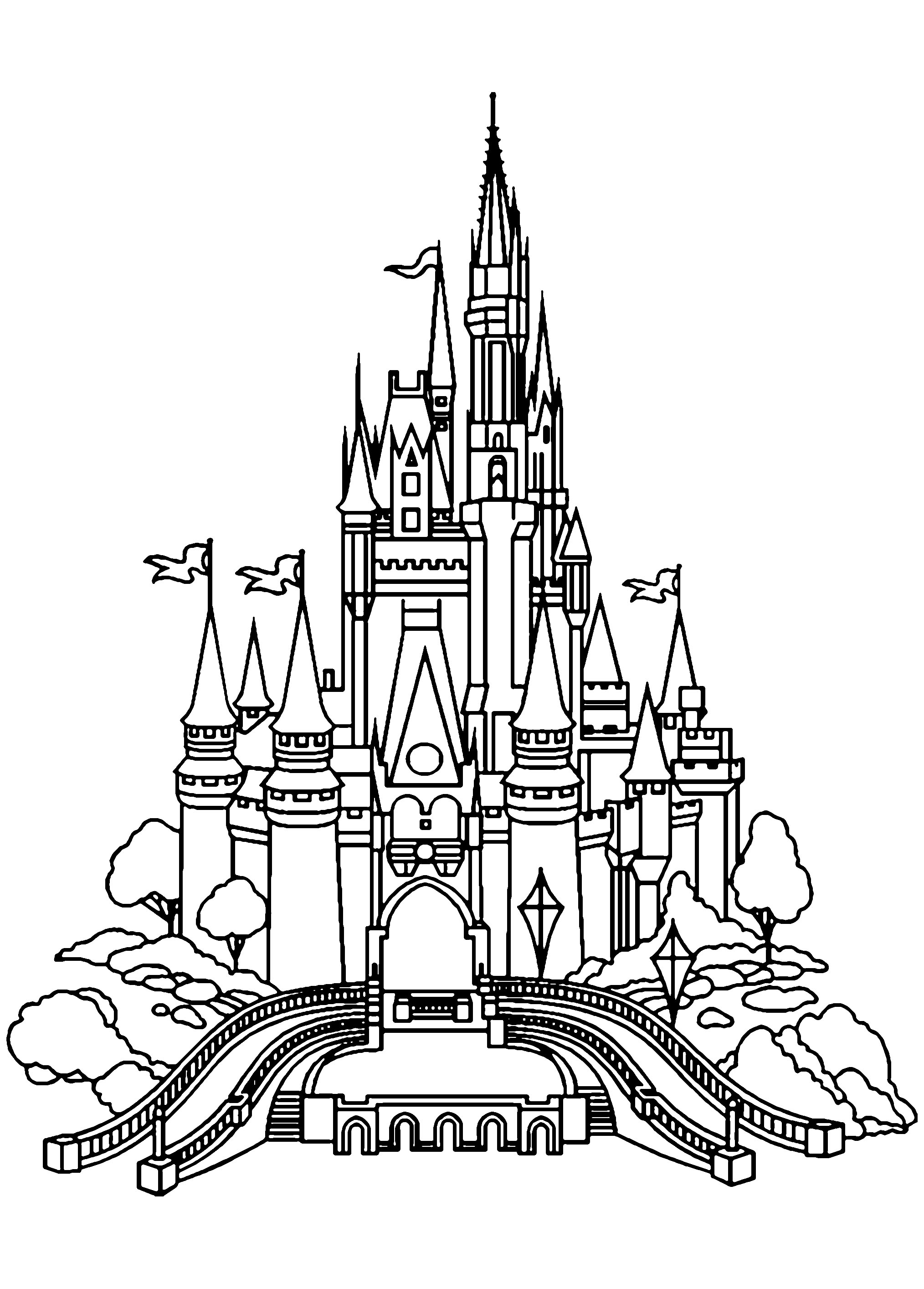 coloring castle pages castle drawing for kids at getdrawings free download coloring castle pages