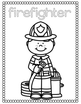 coloring community helpers community helpers coloring and handwriting pages freebie coloring helpers community