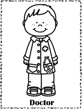 coloring community helpers community helpers coloring pages by preschoolers and community helpers coloring
