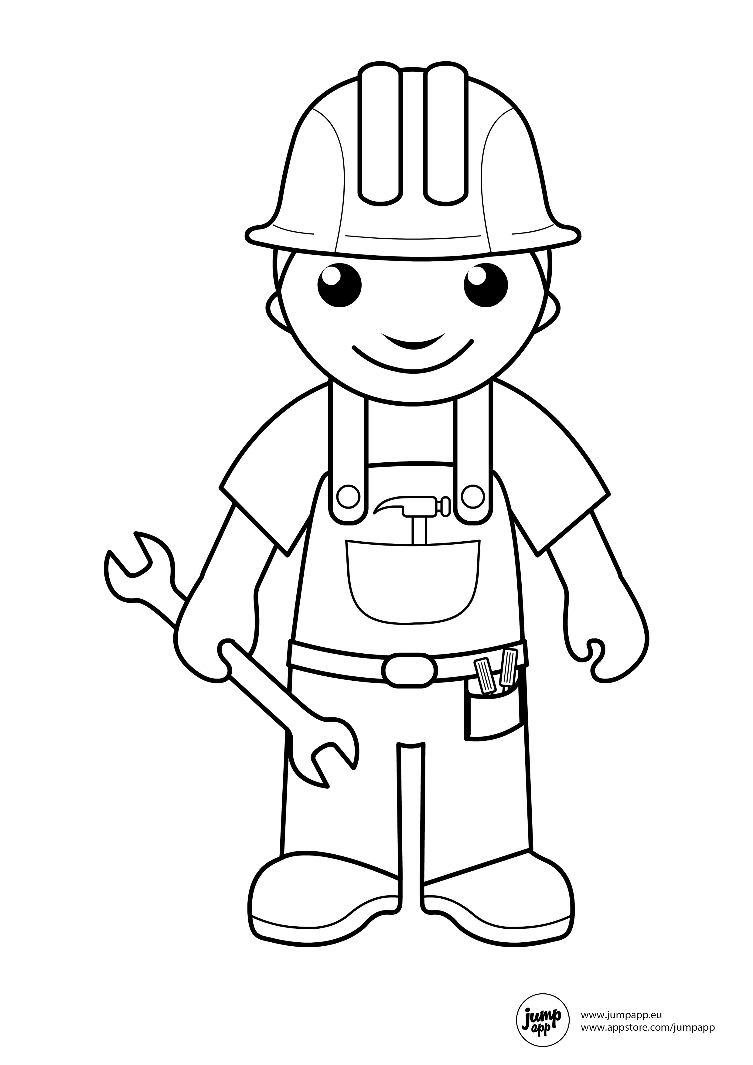 coloring community helpers images free printable community helper coloring pages for kids helpers images coloring community