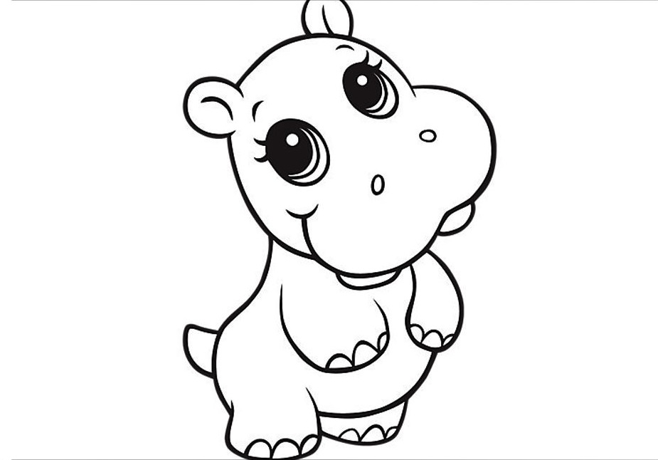 coloring cute animals anime animals coloring pages at getdrawings free download animals coloring cute