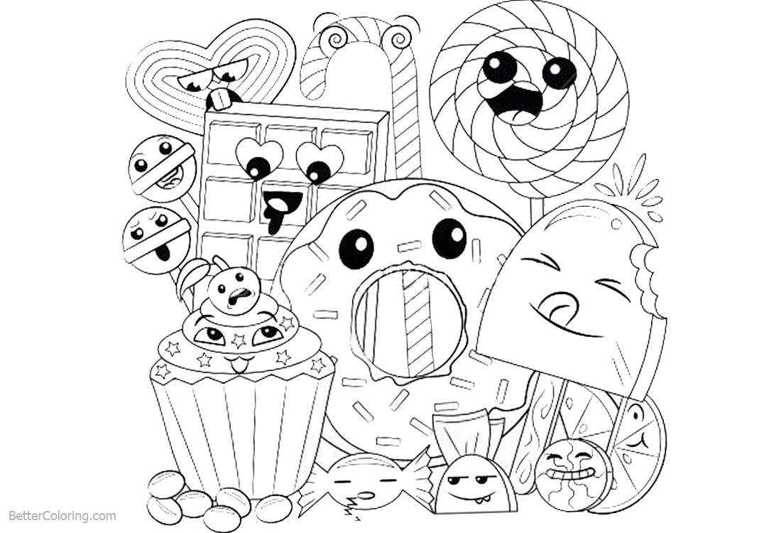 coloring cute food pictures cute food coloring pages coloring pages to download and food cute coloring pictures