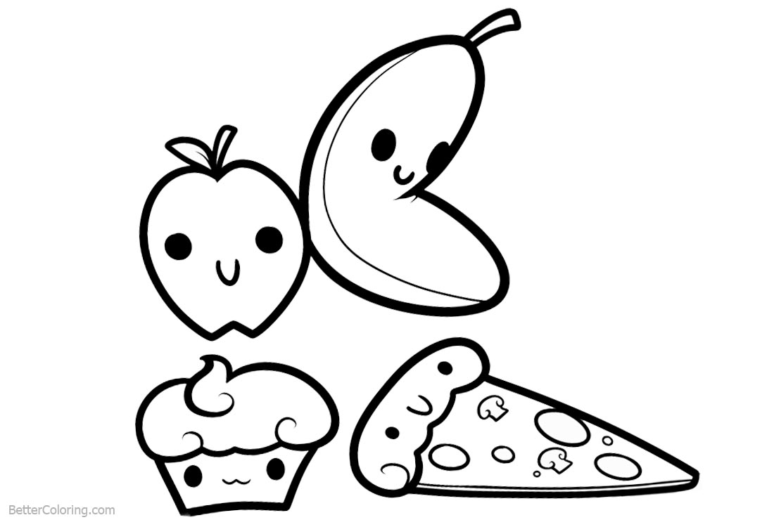 coloring cute food pictures cute food coloring pages download and print cute food coloring cute pictures food