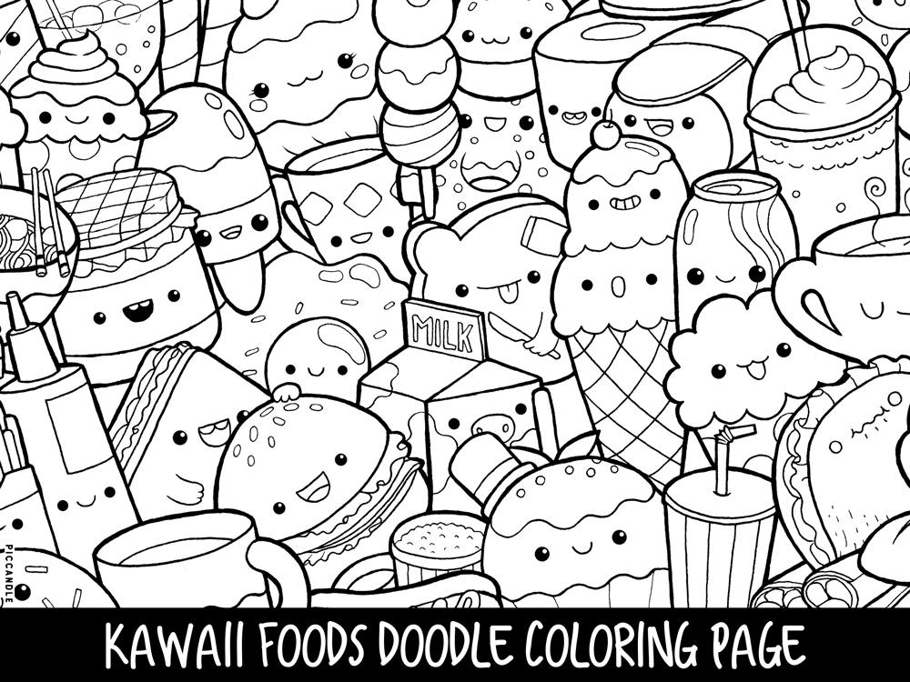 coloring cute food pictures cute food coloring pages hand drawing free printable pictures food cute coloring