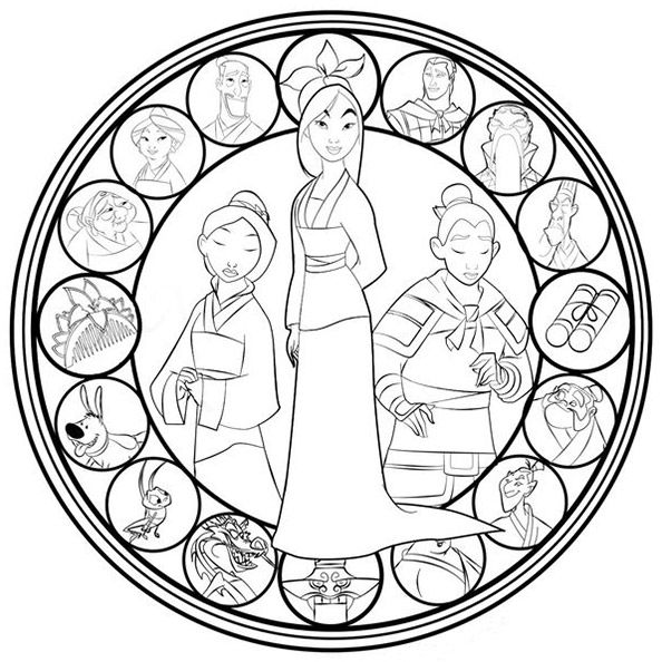 coloring disney mandala disney stained glass colouring pictures google search coloring disney mandala