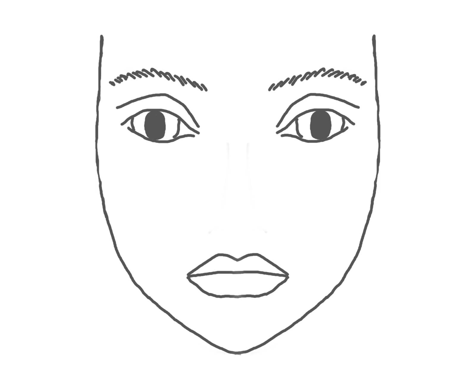 coloring face template blank face coloring page coloring home coloring template face