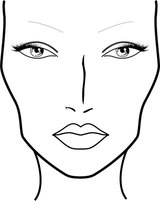 coloring face template blank face coloring page getcoloringpagescom coloring face template