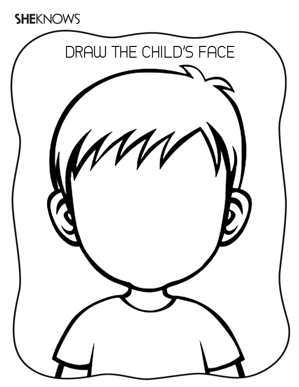 coloring face template blank face coloring page getcoloringpagescom coloring template face