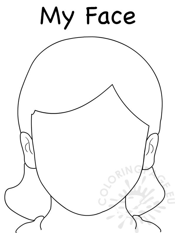 coloring face template blank face coloring page getcoloringpagescom face coloring template