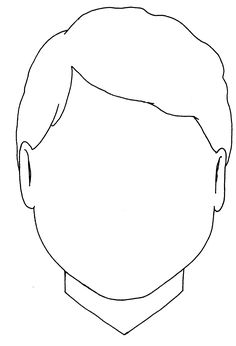 coloring face template blank face coloring page getcoloringpagescom template face coloring