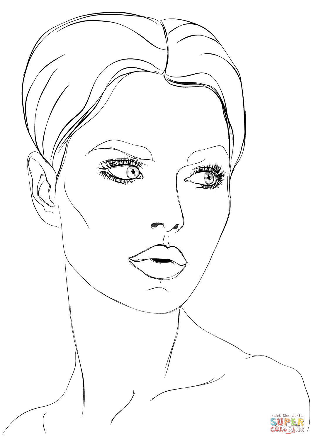 coloring face template blank head coloring page clipart best template face coloring